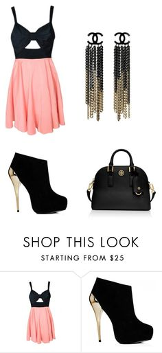 """Gold"" by nyjae12 ❤ liked on Polyvore featuring Tory Burch"
