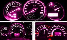 10x Purple Pink T5 3 SMD LED Bulbs Dashboard Gauge Side Door Light 74 2721 17 18 | eBay