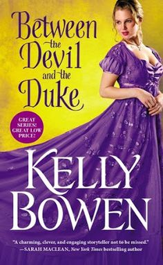 Between the Devil and the Duke (Season for Scandal #3) by Kelly Bowen  ~~~  historical romance ~~~  Bowen just gets better and better! Between the Devil and the Duke was a thrillingly unique adventure that kept me eagerly reading just...one...more...page. You know, instead of cleaning the house, or working on my steps. I just needed one...more...page first. lol I loved the characters, the daring, the mystery and set up. The entire world is rich, luscious and utterly delicious.
