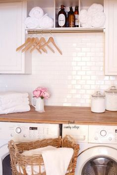Under $500 Laundry Room Renovation REVEAL - Can a laundry room be beautiful? How about just a laundry closet? Can a space that is just uti...
