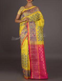 Karuna Choc-O-Checks Luscious #MangalgiriSilkSaree