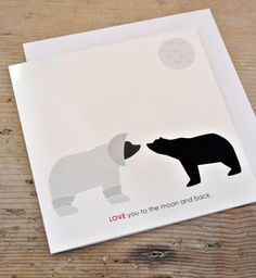 Love You To The Moon And Back Card - anniversary cards