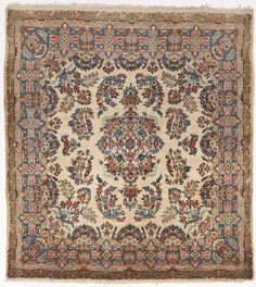 Nlr 215 Antique Kerman Lavar 5 0 X 6 Boho Rugssquare