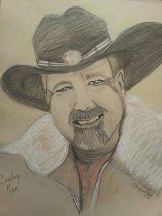 Cowboy, pastels