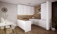 Všetky naše kuchyne sú vyrábané na mieru... Simple Kitchen Design, Kitchen Room Design, Kitchen Cabinet Design, Home Decor Kitchen, Interior Design Kitchen, Home Kitchens, Kitchen Ideas, Small Apartment Interior, Cuisines Design