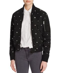Sandro Silencio Embellished Bomber Jacket - 100% Bloomingdale's Exclusive…
