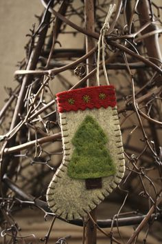 Rustic embellished stocking