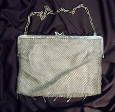 Sale Silver Mesh Evening Bag Made in Germany Woven Hallmarked Vintage Silver Chain/Mesh Evening Clutch - $89.10 USD
