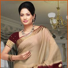 Light Fawn Pure Mysore Silk Saree with Blouse Online Shopping: STC115C