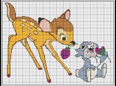 grille broderie disney gratuite 20 Cross Stitch Fabric, Cross Stitch Baby, Cross Stitching, Cross Stitch Embroidery, Disney Cross Stitch Patterns, Cross Patterns, Embroidery Patterns, Bambi Disney, Disney Diy