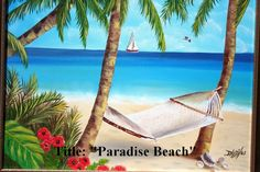 Special Offer  Oil paintings on canvas Paradise Beach