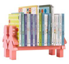 A stylish way to organize board books.