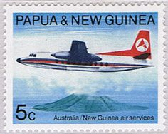 Papua New Guinea 1970, Boeing 707 over Manam volcano