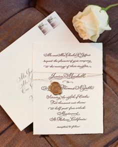 """See the """"The Invitation"""" in our A Formal Outdoor Destination Wedding in Napa, California gallery"""