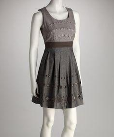 Gray Cutout Dress by Ryu
