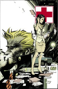 Hellblazer COD cover 2 colors. Posted by seangordonmurphy on deviantart, colors by Dave Stewart.