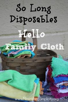 So Long Disposables, Hello Family Cloth {How to Start Using Cloth Toilet Paper}