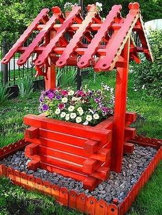 16 Ideas easy garden ideas flowers projects for 2020 Back Garden Landscaping, Diy Garden Fence, Garden Yard Ideas, Diy Garden Projects, Easy Garden, Garden Crafts, Diy Garden Decor, Garden Kids, Backyard Ideas