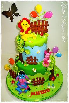 Cake Winnie the Pooh and friends - by Galia Hristova @ CakesDecor.com - cake decorating website