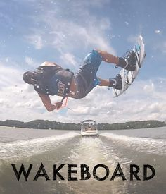 Who wouldn't love a day out on the lake, pulling some back flips on a board being pulled behind a boat? #wakeboard #bucketlist