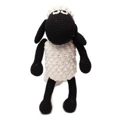 White-Black Sheep Handmade Amigurumi Stuffed Toy Knit Crochet Doll from @walmart  / such a cute gift idea for a new baby. #Walmart #sponsored