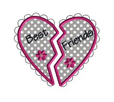Best Friends Applique Machine Embroidery by SewChaCha on Etsy