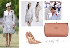 Kate in Belgium wore Catherine Walker with Jane taylor hat