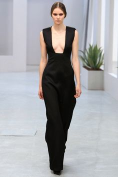 La robe à col carré du défilé Barbara Casasola à Londres - À  porter avec un haut.
