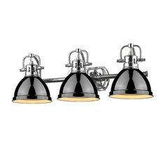 View the Golden Lighting 3602-BA3-CH Duncan 3 Light Bathroom Vanity - 25 Inches Wide at LightingDirect.com.