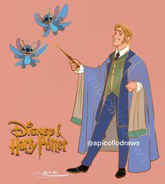 Disney Hogwarts, Harry Potter Disney, Harry Potter Comics, Harry Potter Fan Art, Disney Movie Characters, Disney Crossovers, Disney Movies, Harry Potter Professors, Disney Quotes