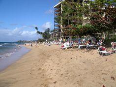 Beach at Kaanapali Shores condo Maui from Jon's Maui Info www.mauihawaii.org