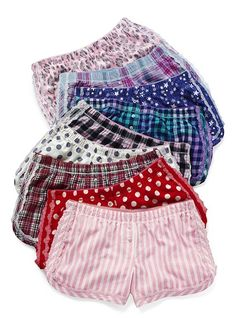 I love my pjs - I want them all but will settle for the 2 polka dots and the pink stripes in medium :)