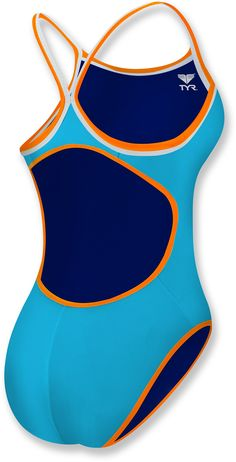 TYR Solid Reversible Diamondfit Swimsuit --CATALINA!