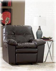 Signature Design by Ashley Jordon Rocker Recliner in Java DuraBlend? Dining Room Furniture, Home Furniture, Java, Bedroom Sofa, Nebraska Furniture Mart, Signature Design, Recliners, Home Decor, Leather Sofas