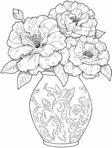 Adult Coloring Pages Flowers - Printable Coloring Image