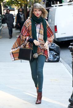 poncho trend - Taylor Swift