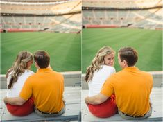 These Neyland Stadium engagement pictures were taken at the University of Tennessee by JoPhoto Knoxville wedding photographer. UT Vols stadium photos. Football Engagement Pictures, Engagement Couple, Engagement Shoots, Engagement Photography, Wedding Engagement, Wedding Day, Photography Ideas, Prom Pictures, Couple Pictures