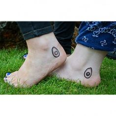 Two avocado halves. | 36 Beautiful Tattoos For People Who Love Food