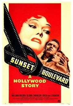 Sunset Boulevard Classic Cinema series Directed by Billy Wilder. With William Holden, Gloria Swanson, Erich von Stroheim, Nancy Olson. A hack screenwriter writes a screenplay for a former silent-film star who has faded into Hollywood obscurity. Best Movie Posters, Classic Movie Posters, Cinema Posters, Classic Movies, Hollywood Story, Classic Hollywood, Old Movies, Vintage Movies, Movies Free