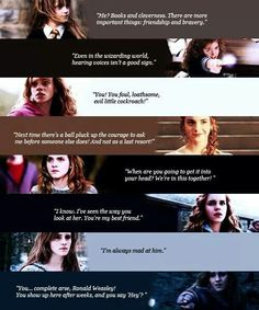 Emma Watson as Hermione a line from all eight movies
