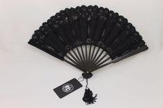 Dark in Love Black Gothic Victorian Burlesque Elegant Handheld Lace Fan #DarkinLove