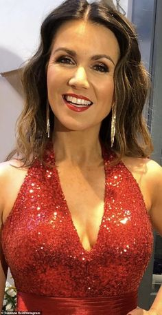Glamorous: For her GMB co-hosting duties, Susanna keeps her make-up simple, but for red carpet events she ups the glamour with heavier make-up looks