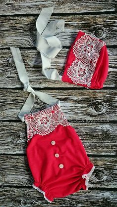 Baby dress / photo props :) christmas set