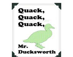 the Mighty Ducks quack.