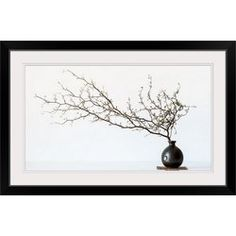 Great Big Canvas 'Vase and Branch Photographic Print Format: Black Frame, Size: H x W x D Metal Walls, Metal Wall Art, Big Canvas, Canvas Art, All Wall, Decorative Pillows, Vase, Fall 2018, Decorative Throw Pillows
