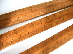 Wood Strips With 48 Nails For Hooks Hangers 3 Pieces Of A Vintage Antique Curtain  Stretcher