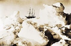 Endurance trapped in pack ice, 1915  - Explore the World with Travel Nerd Nici, one Country at a Time. http://travelnerdnici.com