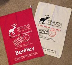 Santa Bag - Personalized - Custom - Santa Sack - Christmas Delivery Bag - Christmas RWL - Ruffles with Love
