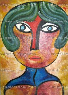 By Franco Ravara, Olio su carta, 36x51 cm., rif. Q-0210, in vendita. Per info: collezionefrancoravara@gmail.com