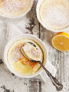 Warm Lemon Pudding Cake - Seasons and Suppers